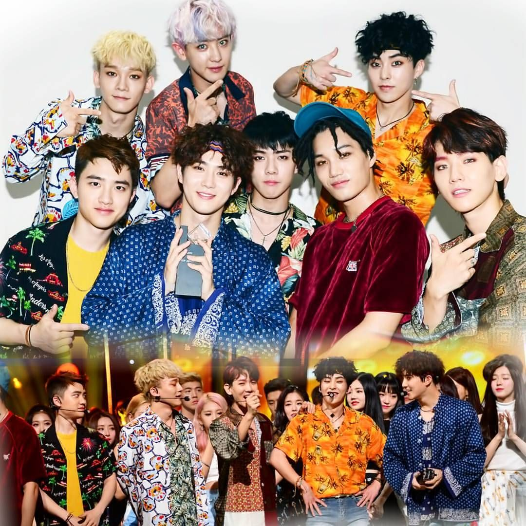 777 Likes 2 Comments Glamexo On Instagram Another Stunning Group Photo Kokobop4thwin Weareone Exo Sbs Inkigayo 170730