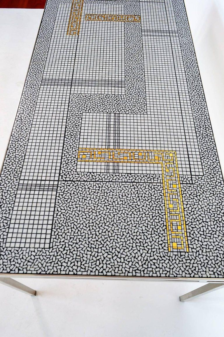 - Mid-Century Modern German Mosaic Coffee Table By Berthold Müller