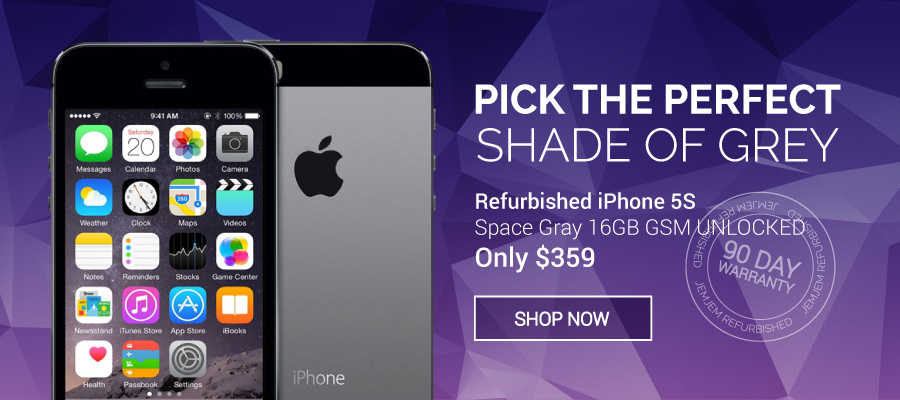 Pick The Perfect Shade Of Grey With The Space Gray Refurbished Iphone 5s 16gb Gsm Unlocked Only 359 At Jemjem Com U Iphone Apple Products Refurbished Iphones