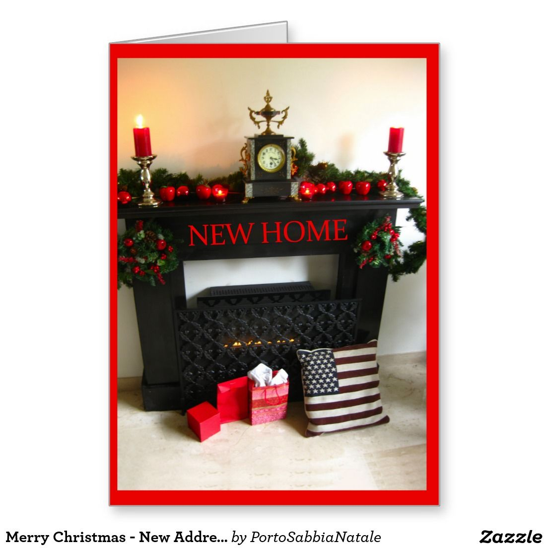 Merry Christmas - New Address Christmas Card | Stuff SOLD on Zazzle ...