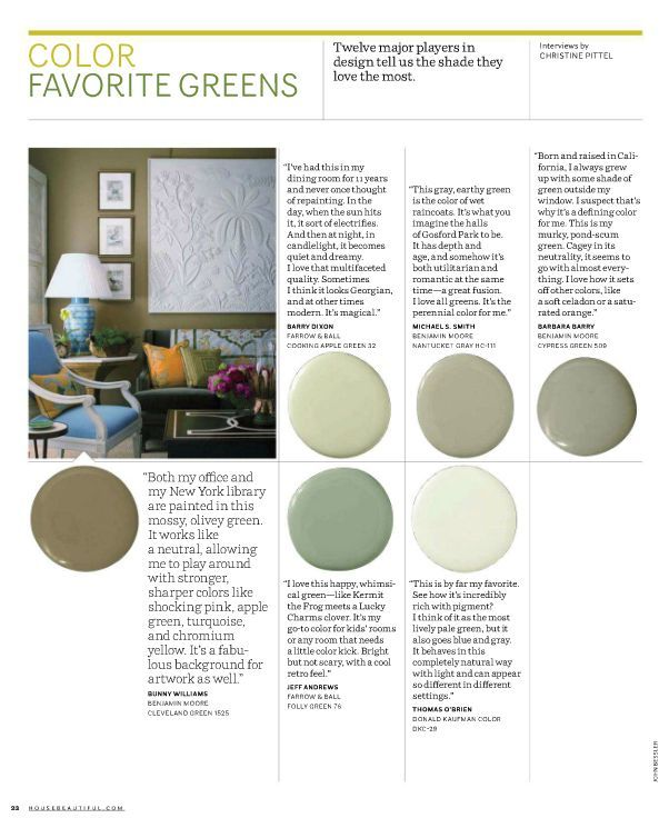 6 Serene Green Paints That Don T Say Always On Trend These Greens Are The Easiest Colors Eyes