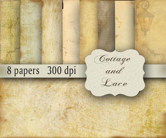 INSTANT DOWNLOAD Digital Grunge Background, Scrapbook Paper, Digital Designs, Old Printable Paper Pack   No. 1106