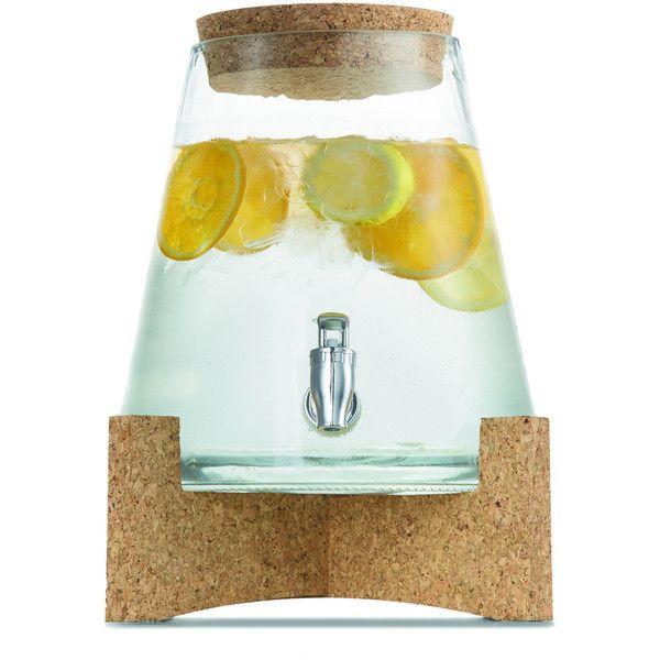 6 2l Cork Amp Glass Drink Dispenser Kmart 12 Aud Liked