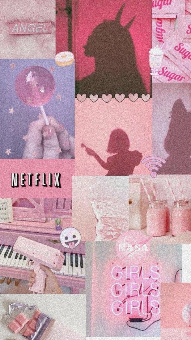 Pink Vintage Grunge Background
