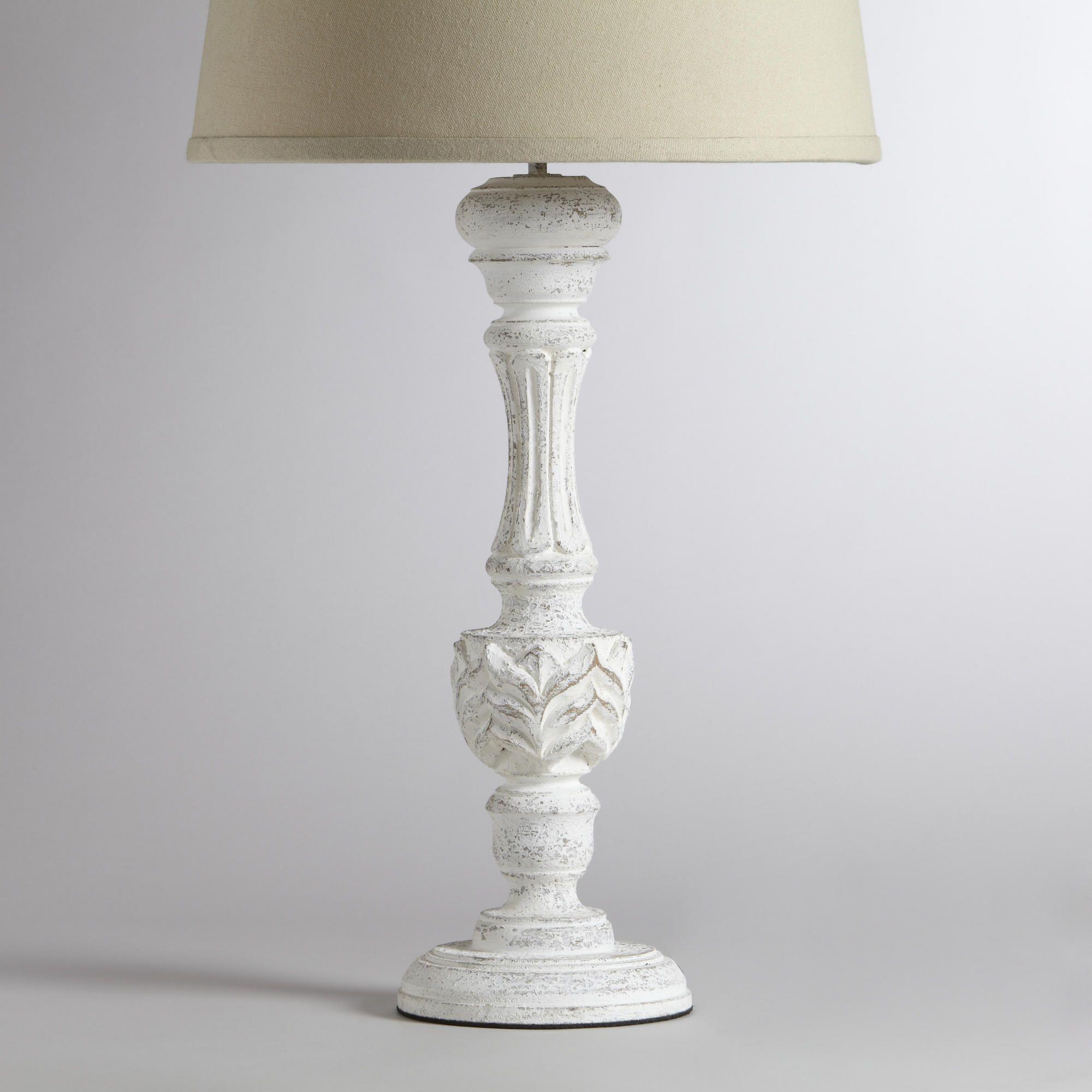 Klara Antique Candlestick Table Lamp Base World Market $49.99