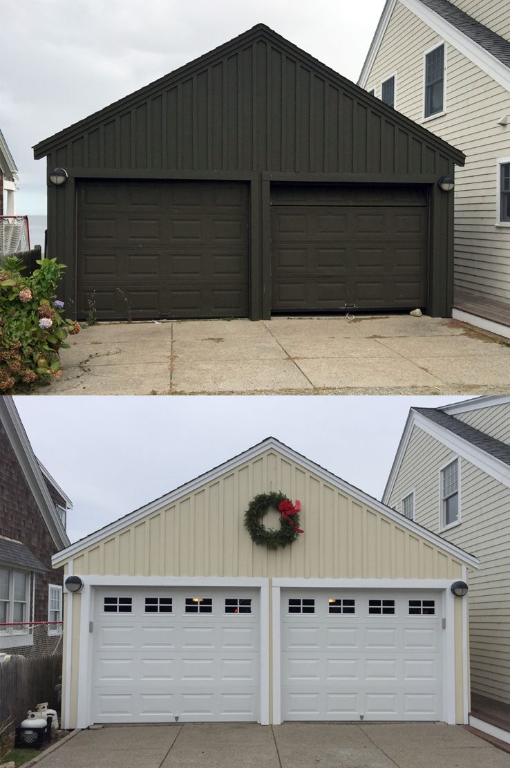 Scituate Ma Garage Doors Before And After Boston Area Garage