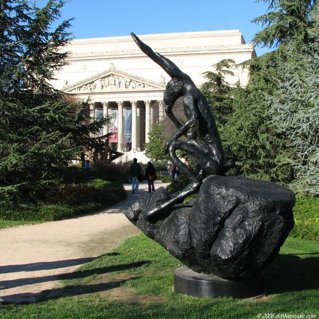 Thinker On A Rock At The National Gallery Of Art Sculpture