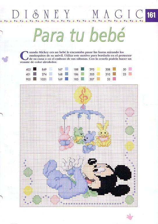 Solo Patrones Punto Cruz   Disney babies cross stitching   Pinterest ...