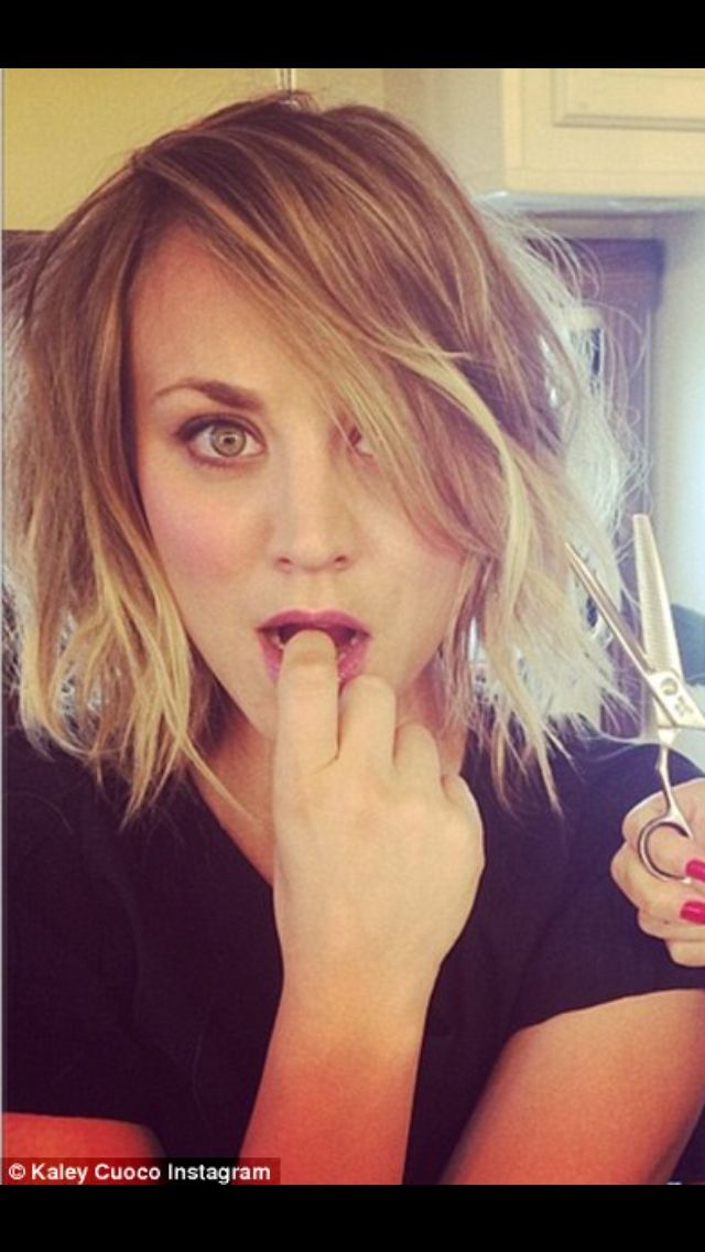 Kaley Cuoco Haircut Beauty Pinterest Kaley Cuoco Haircuts And