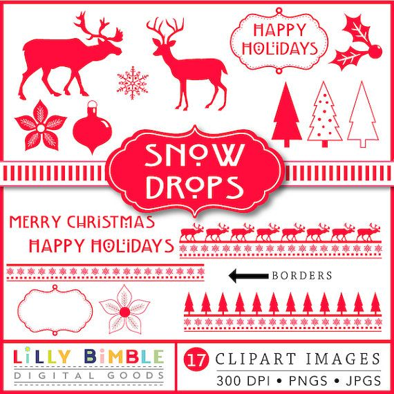 80 off Christmas clipart scandinavian red silhouette 100 Clipart