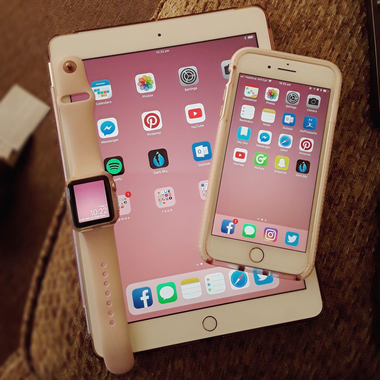 Iphone Ipad Apple Watch Iphone 7 Plus Ipad 2017 Rose