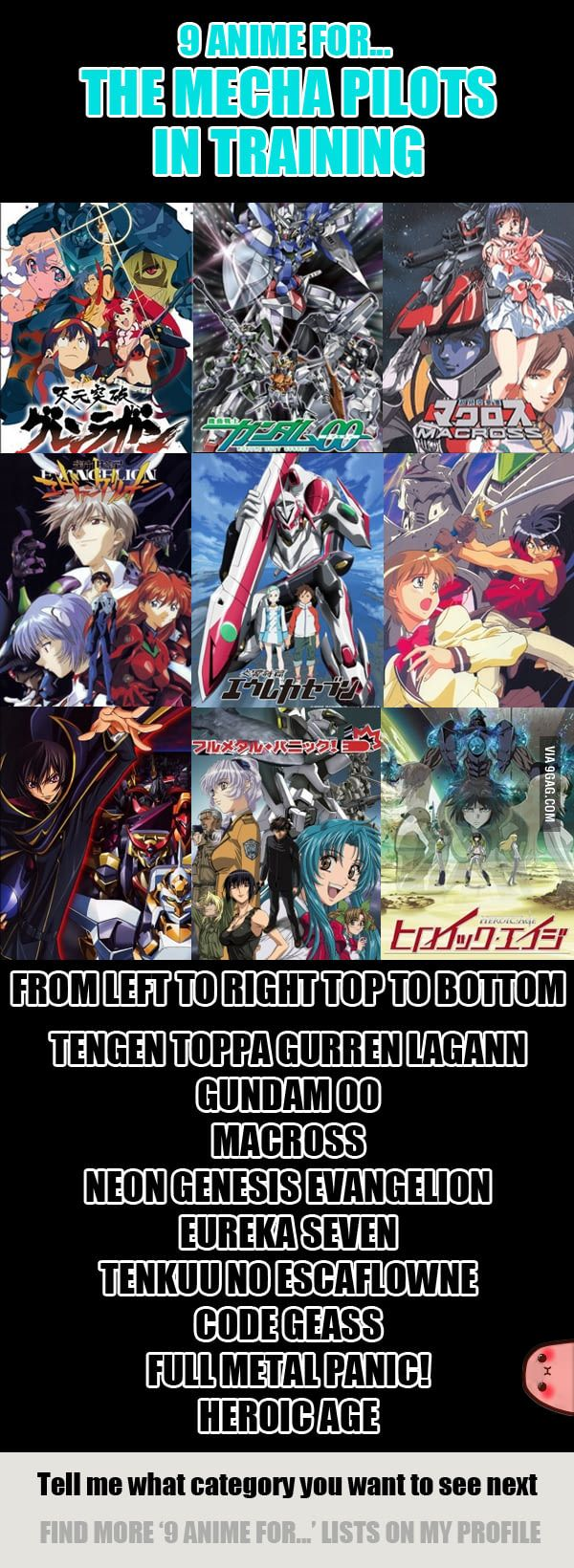 9 Anime For The Mecha Pilot In Training Anime shows