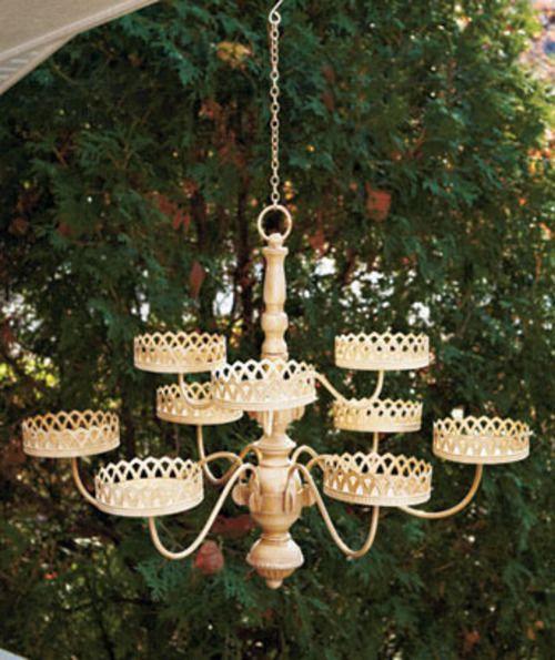 Stunning Chandelier Flower Planter Pot Holder Holds 9 Plants Hanging Dangle | eBay