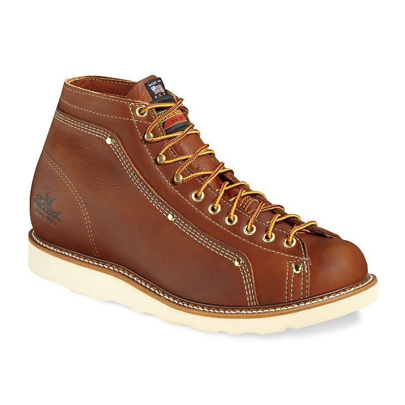 Thorogood American Heritage Roofer Lace To Toe Men S Work Boots Mens Boots Fashion Good Work Boots Brown Leather Boots