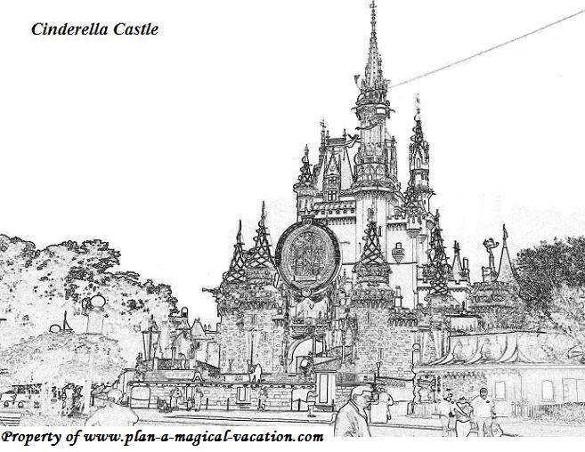 Disney Coloring Page 006 Castle Coloring Page Cinderella Coloring Pages Disney Coloring Pages