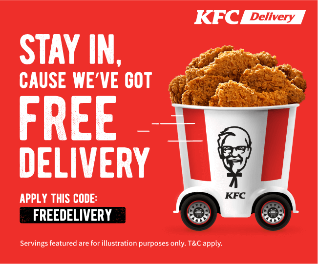 Kfc Delivery Free Delivery Promo Code Promotion In 2020 Kfc