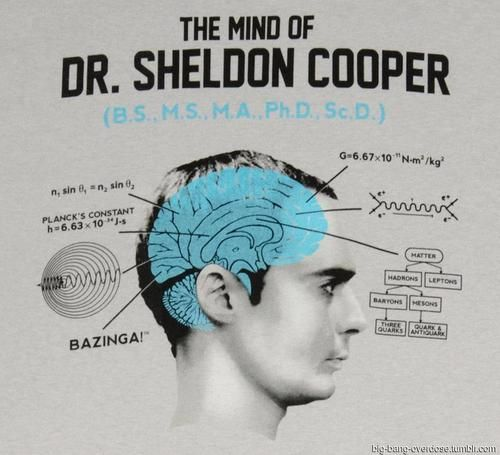 """The Mind of Dr. Sheldon Cooper--Oh my gosh, I just had a final with """"Planck's Constant"""" equations!"""