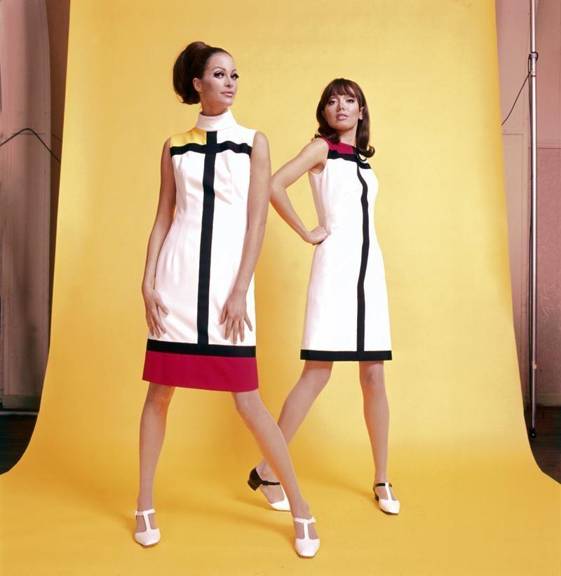 Mondrian-Mode, 1965 | Groovy 60\'s | Pinterest | Verkleidung, Kleider ...