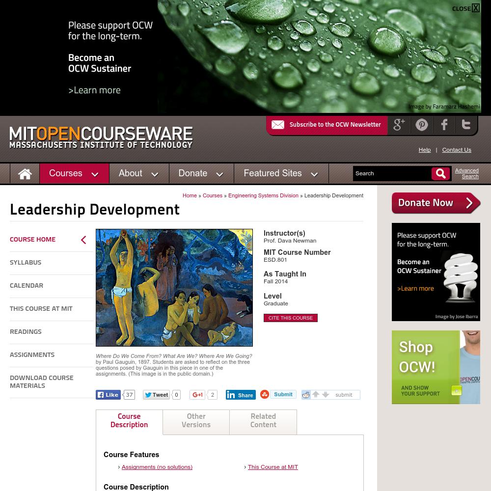Leadership Development, Fall 2014