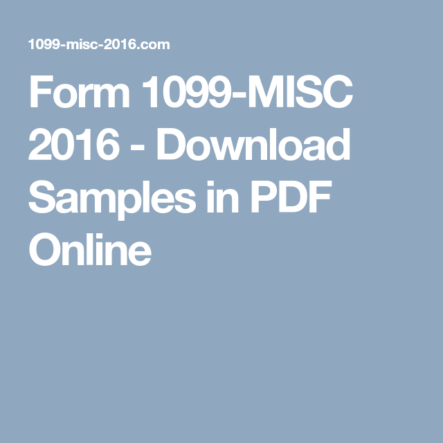 form 1099-misc 2016