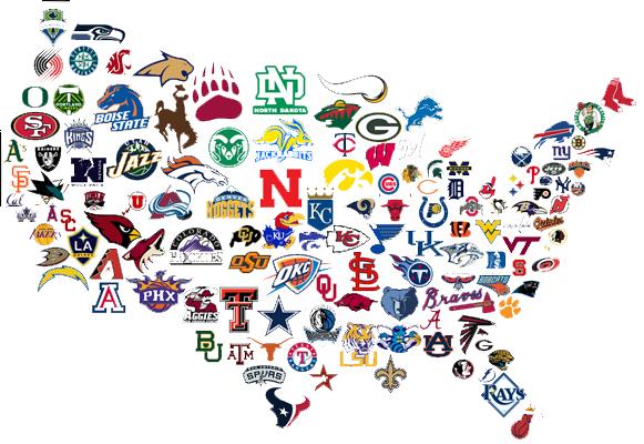 USA Team Map MLB Jigsaw Puzzle PuzzleWarehousecom MLB USA Map - Us map nba teams