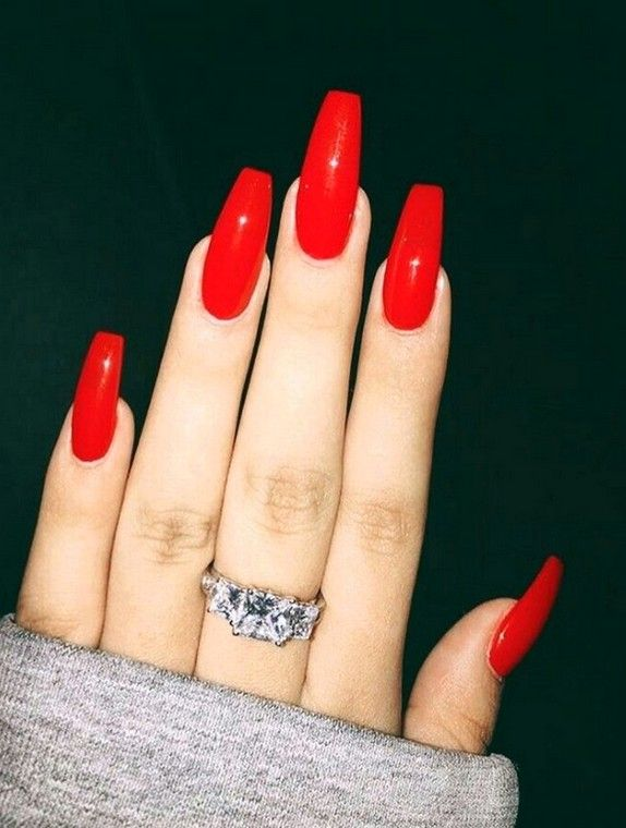 Photo of 60 Most Gorgeous and Stunning 💗 Red Nails Arts (Acrylic nails, Matte Nails) – Nail Design – Page 25 of 58 – Diaror Diary