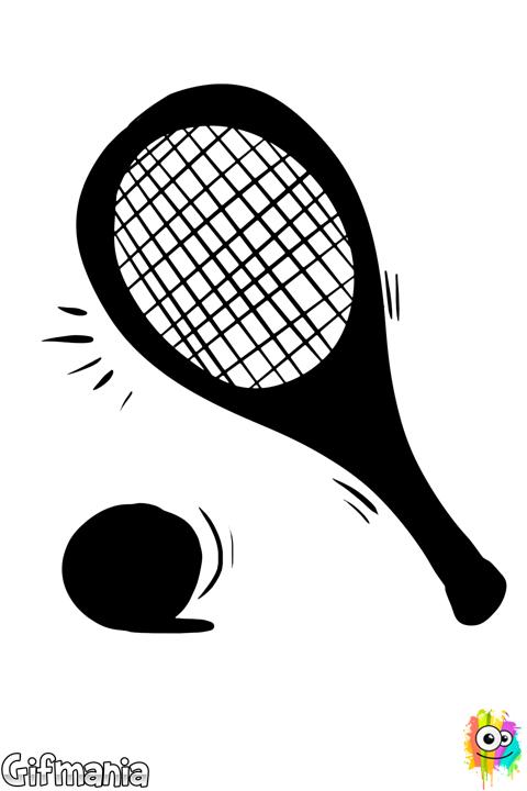 Pelota y Raqueta de Tenis   imgenes para imprimir ...