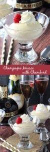 Champagner-Mousse mit Chambord  #chambord #champagner #ChampagnerMousse #mit #mousse #dessertlegerfacile