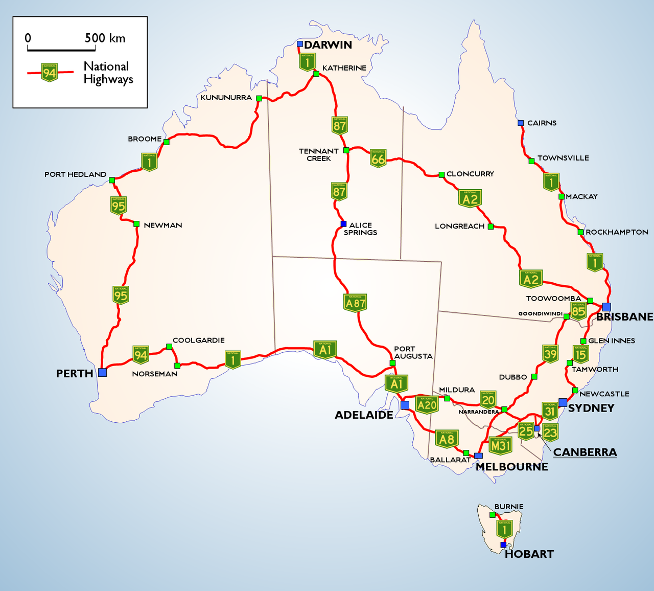 Map Of Australia Highways.National Highway Of Australia Favorite Places Spaces Australia