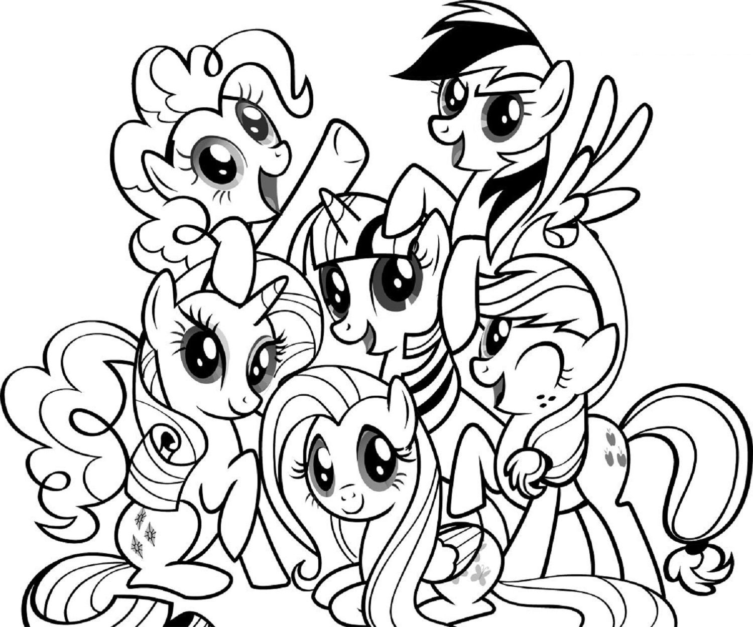 my little pony coloring pages with friends | Colouring pages ...