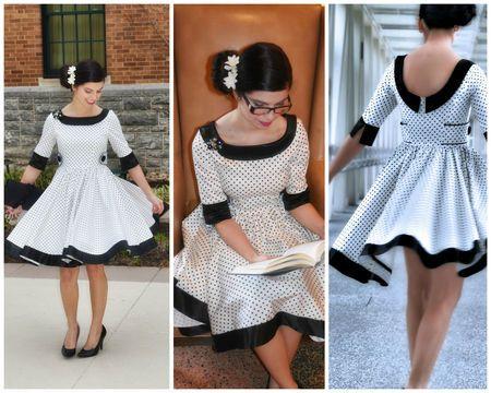 Dress PDF Sewing Pattern (50ies Style) - Sewing Patterns bei ...