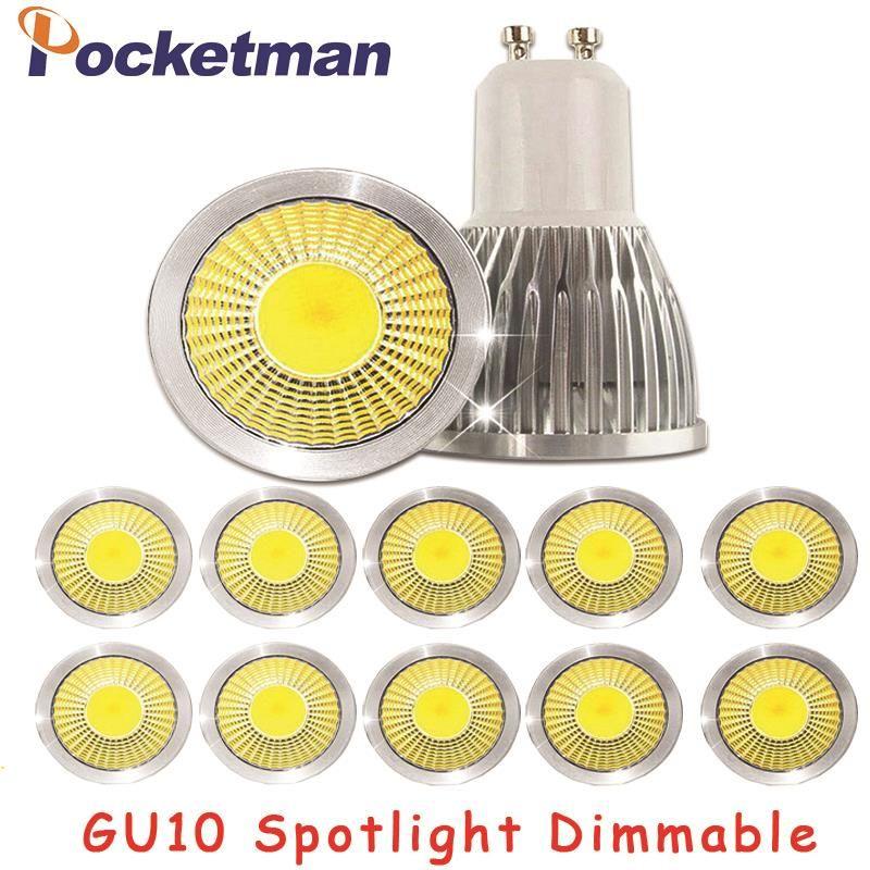 Gu10 Led Dimmable Led Spotlight Bulb Light 15w 10w 7w Gu10 Led Cob Spot Light Lamp Gu10 Led Bulb Ac85 265v Lampada Spotlight Bulbs Led Spotlight Bulb