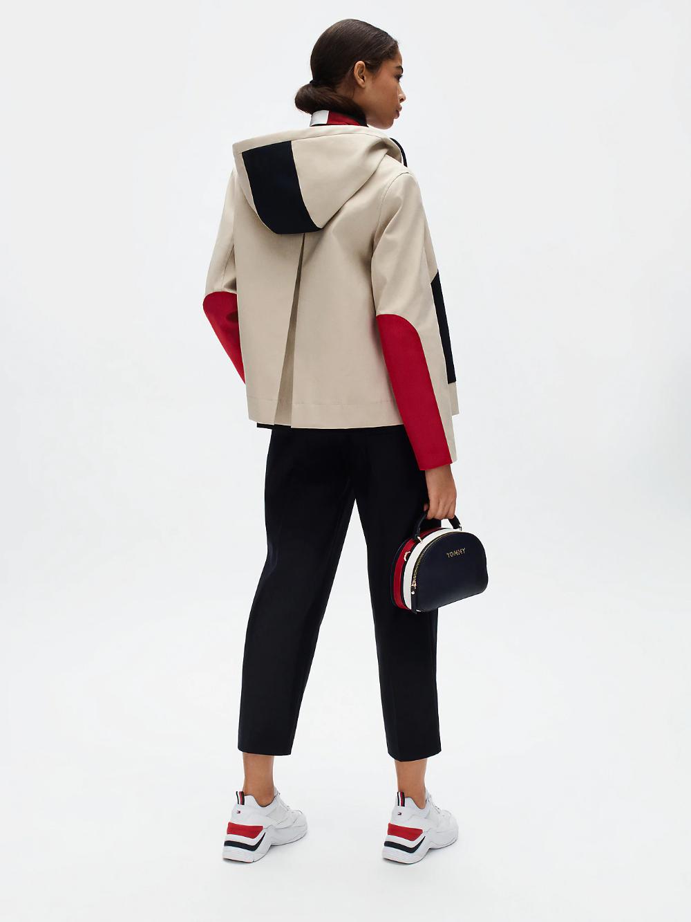 Tommy Icons Bonded Cotton Jacket Grey Tommy Hilfiger Tommy Hilfiger Women S Coats Jackets Cotton Jacket [ 1333 x 1000 Pixel ]