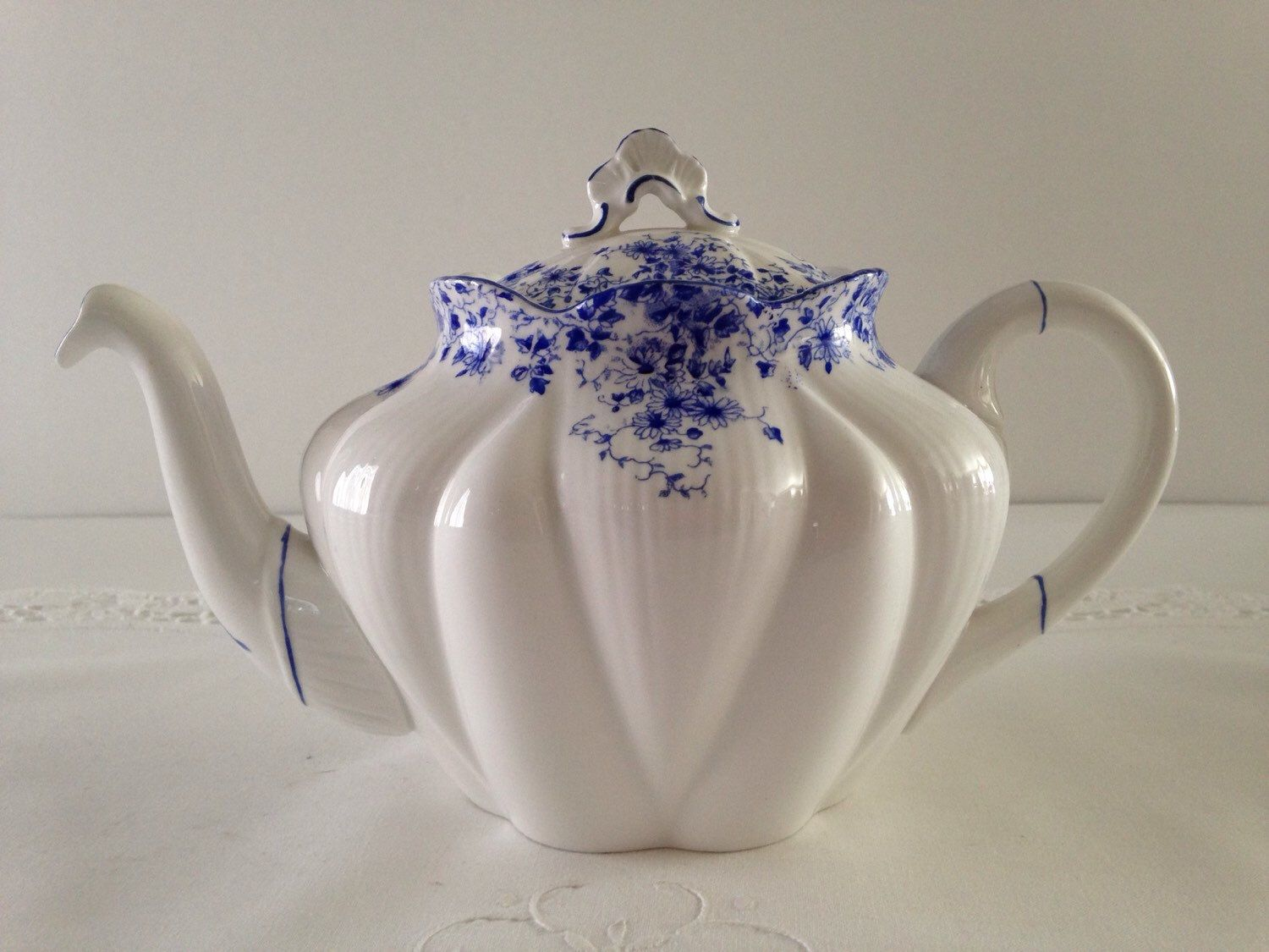Large Dainty Blue Century Rose Teapot  by TheEclecticAvenue on Etsy https://www.etsy.com/listing/209732408/large-dainty-blue-century-rose-teapot