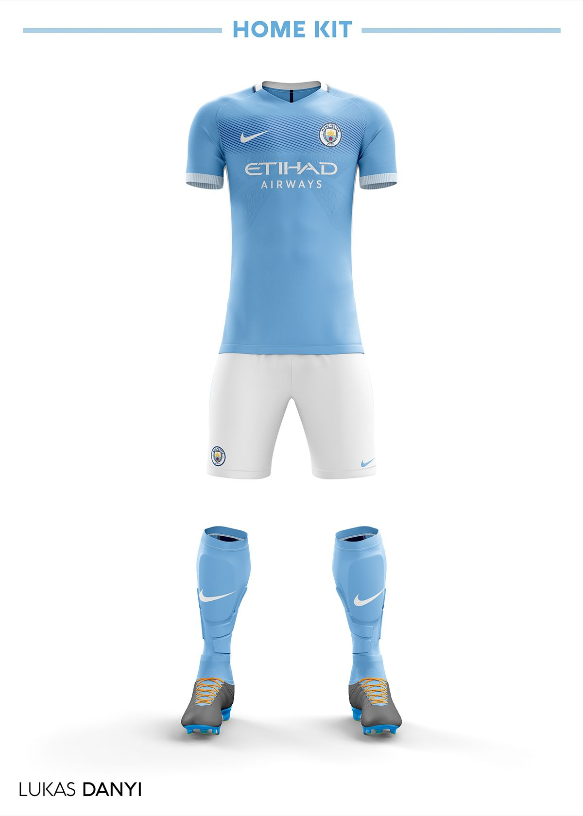 Manchester City Football Kit 18 19. on Behance  6e0ec4e5f