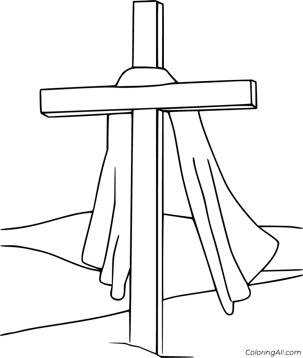 Easter Cross Coloring Pages in 2020 Cross coloring page