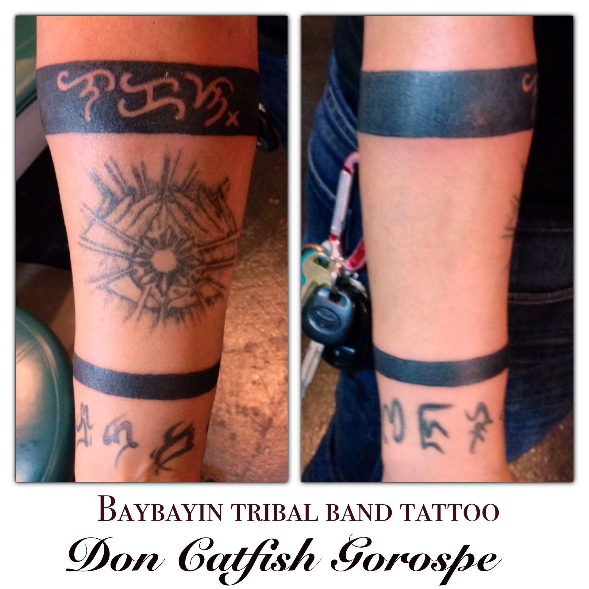Pin By Catfish Ink On My Tattoo Portfolio Tribal Band Tattoo Tattoos Tribal Band