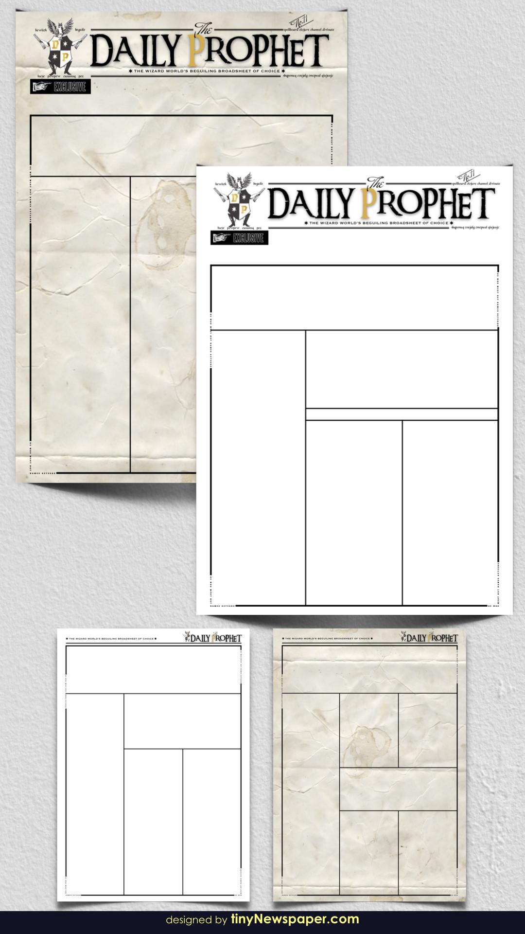 Harry Potter Daily Prophet Newspaper | Newspaper Google Docs