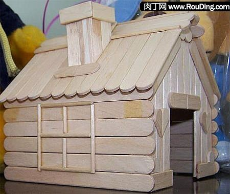 Pop Stick Crafts - Little House • MY DIY CHAT • DIY Projects, Crafts, Gifts and More!