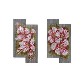 "ULTIMA CREAZIONE. Quadri floreali. "" Fiori bianchi moderni"