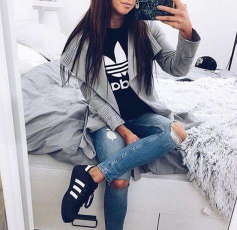 quality design 9e9af 710e1 Outfits súper chic que puedes hacer con una playera Adidas
