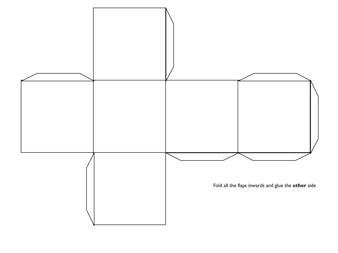 D Cube Template  Teaching VisualsHandouts    Cube