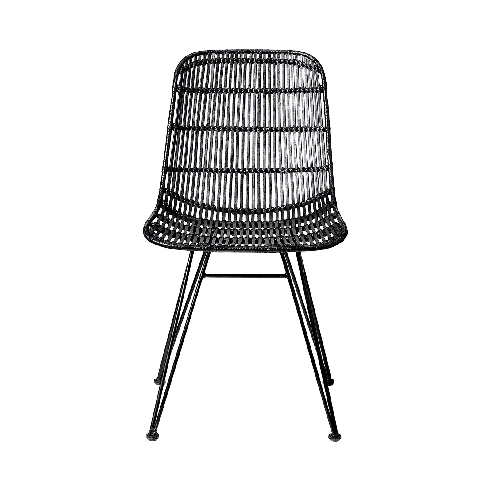 Paragon Rattan Chair Rattan chair, White leather dining
