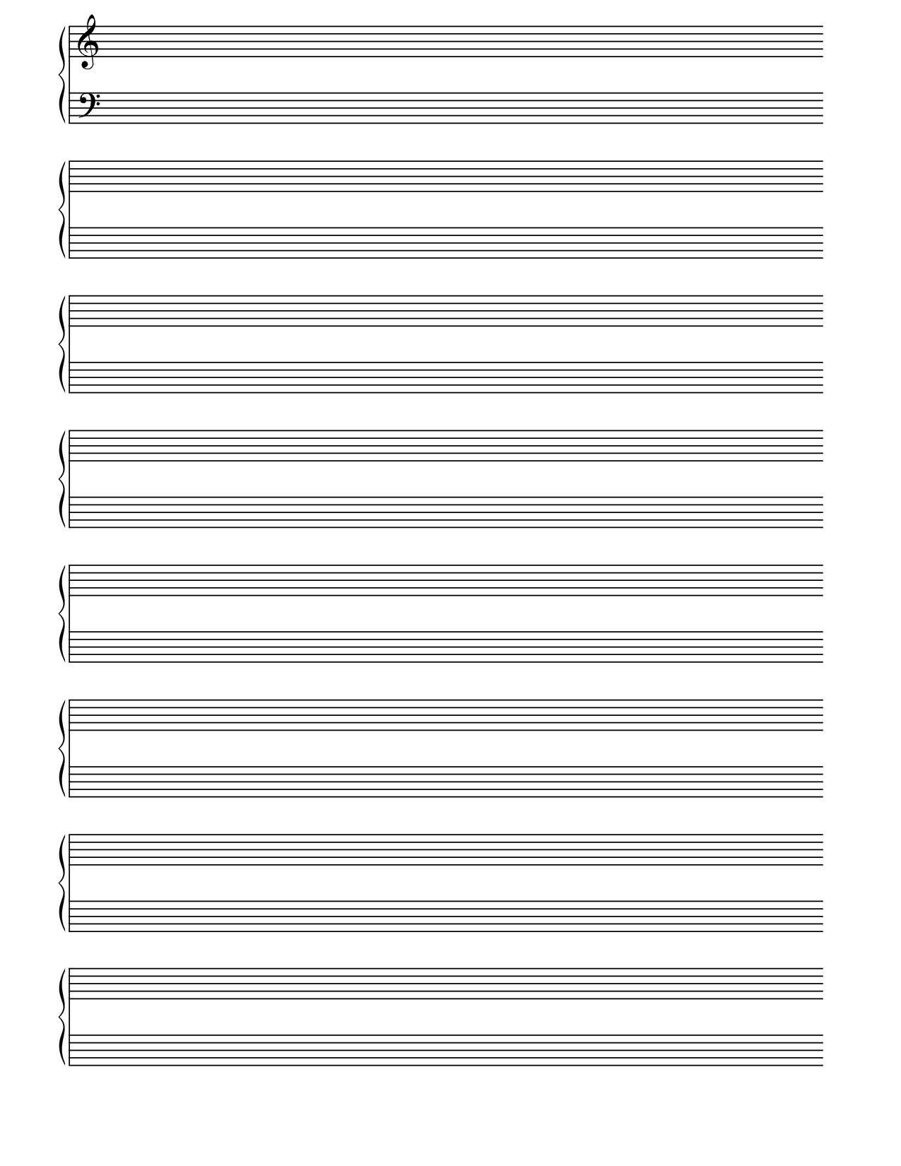 Printable Blank Piano Sheet Music Paper