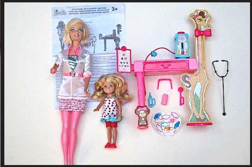 Mattel Barbie I Can Be A Pediatric Doctor Pediatrician Set