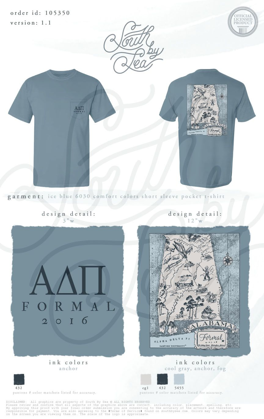 Alpha Delta Pi | ADPi | Alabama Formal | Formal T-Shirt Design ...