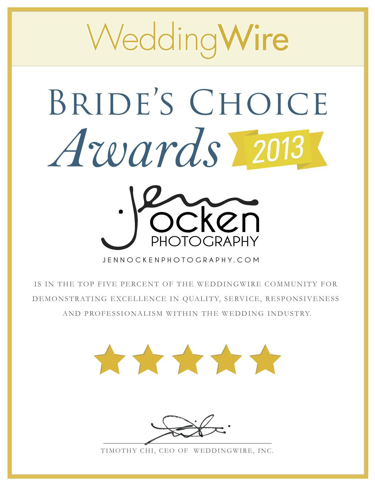 So Grateful For The Bride S Choice Award We Received From