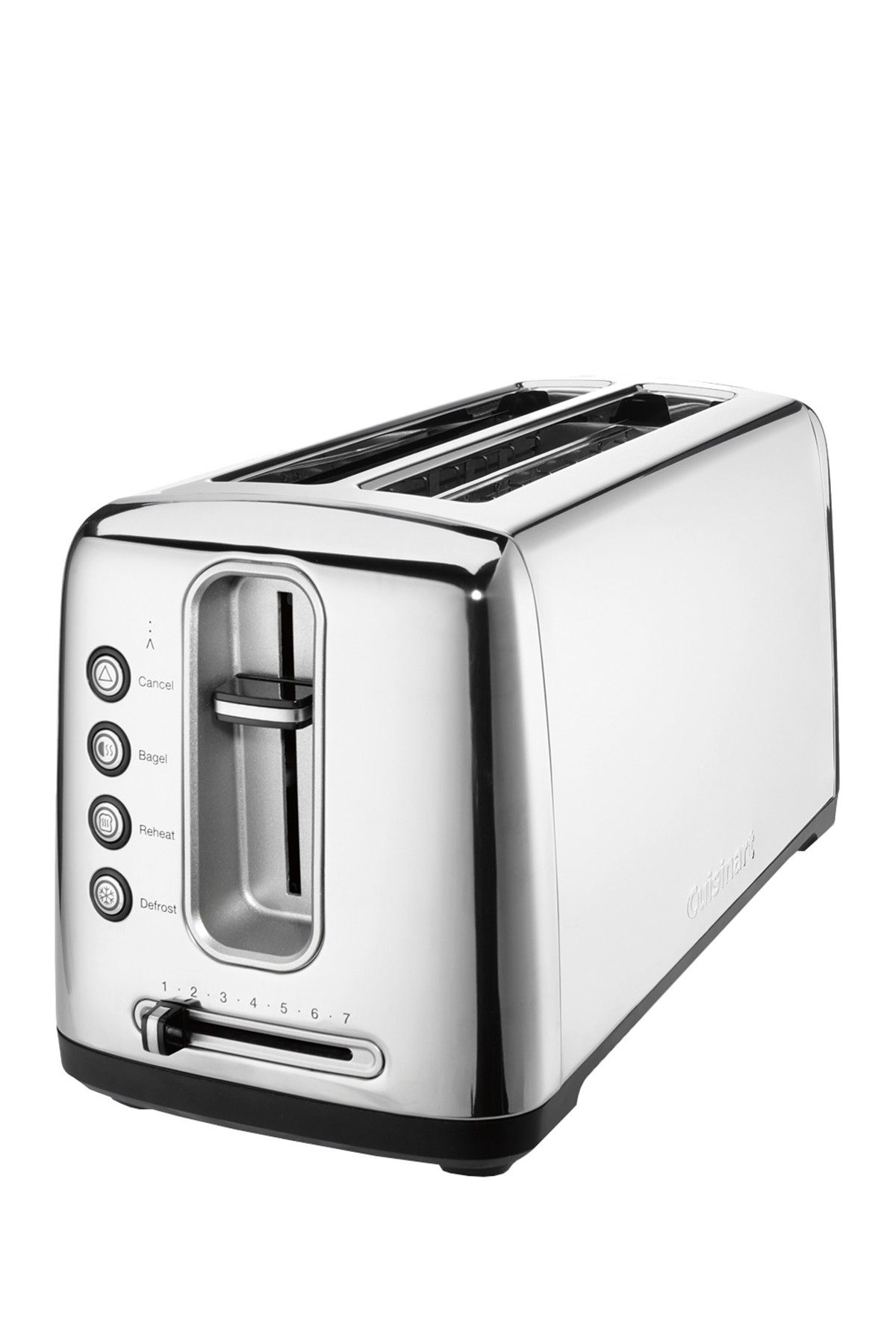 Cuisinart 2-slice extruded aluminum long-slot toaster #cpt-2000 apollo god of the sun slot