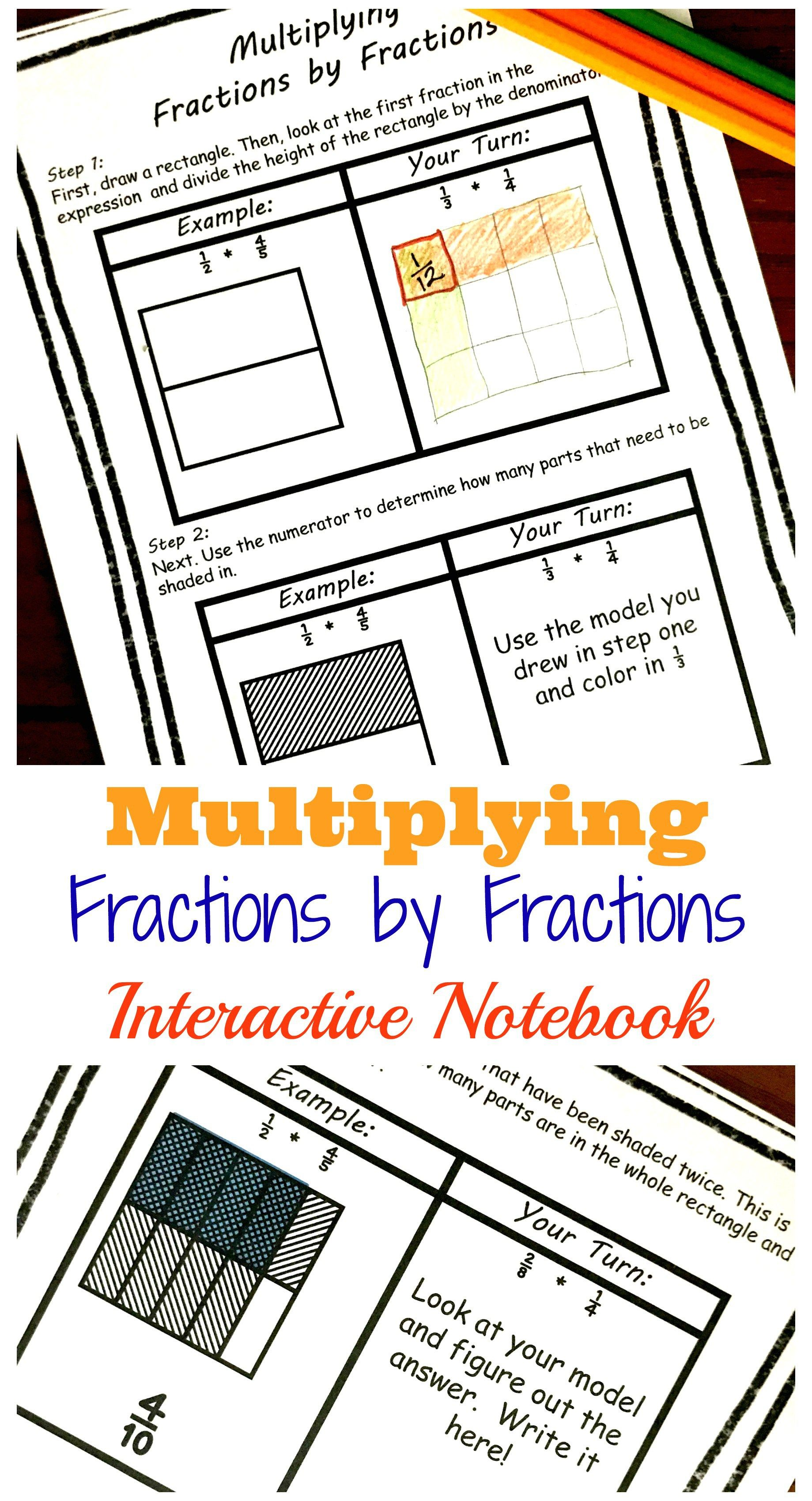 Step by Step Instructions for Multiplying Fractions with Models ...