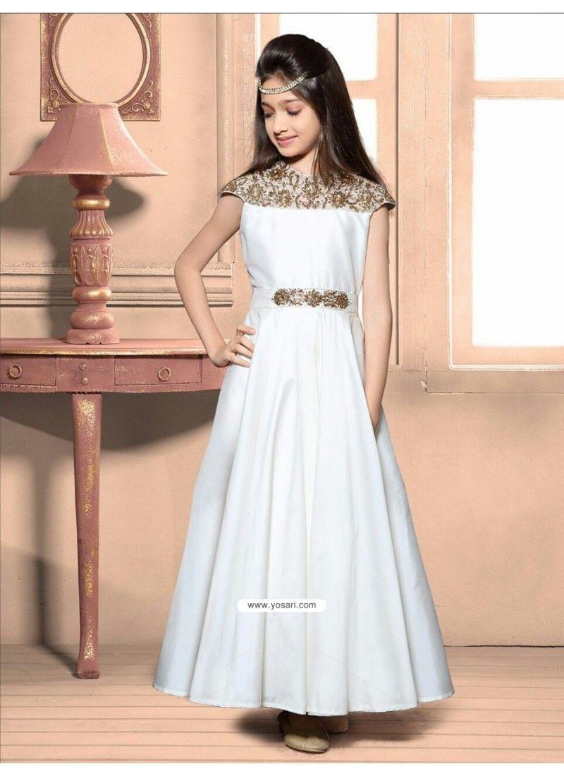 Awesome white taffeta silk gown in girl pinterest dresses